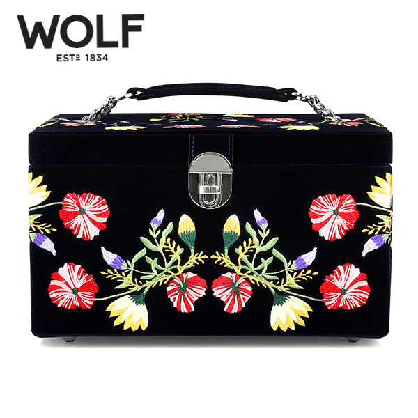 [울프 WOLF] 393116 (ZOE MEDIUM JEWELRY CASE  INDIGO) 보석함 Jewel Box 타임메카