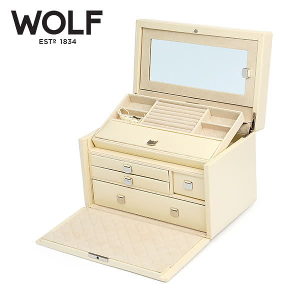 [울프 WOLF] 315153 (London Med Box Cream) / 보석함 Jewel Box