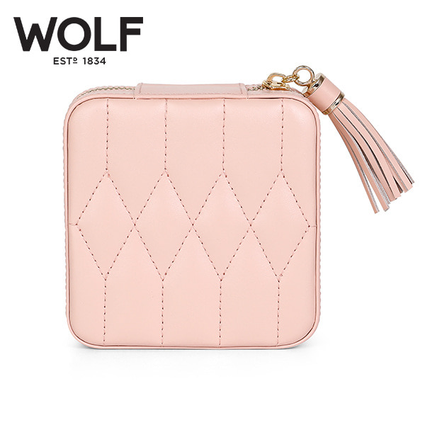 [울프 WOLF] 329915 (Caroline Zip Case ROSE QUART) 보석함 Jewelry Box