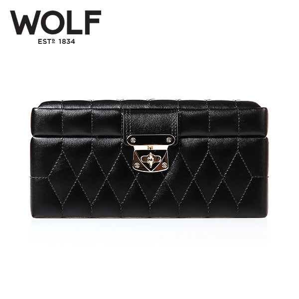 [울프 WOLF] 329871 (Caroline Small Box Black) / 보석함 Jewel Box 타임메카