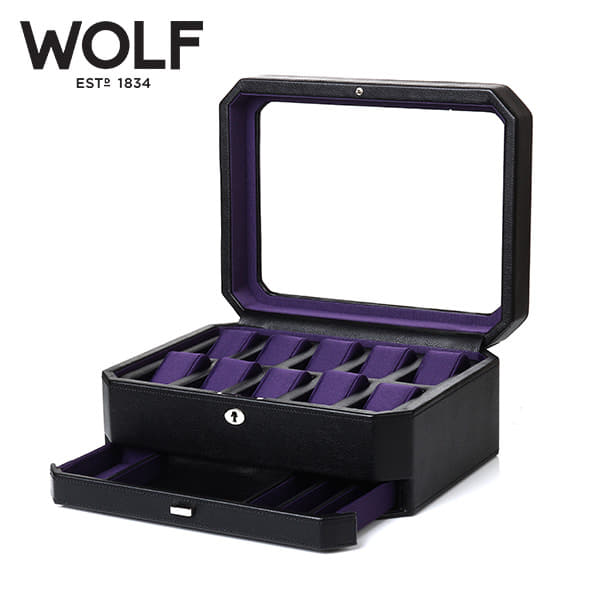 [울프 WOLF] 458603 (Windsor 10pc Watch Box w/ Draw) / 시계보관함 Watch Cubbyhole