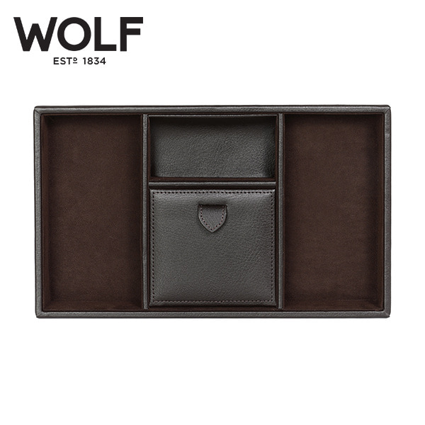 [울프 WOLF] 305106 (Blake Valet tray BROWN PEBBLE) / 보석함 Jewelry Box