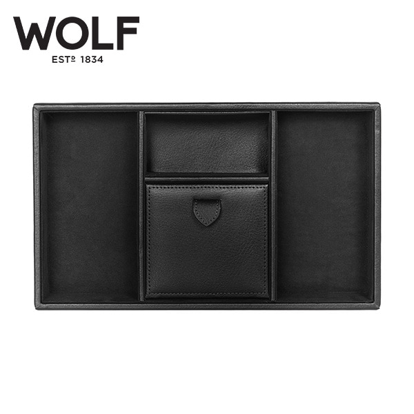 [울프 WOLF] 305102 (Blake Valet tray BLACK PEBBLE) / 보석함 Jewelry Box
