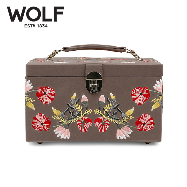 [울프 WOLF] 393113 (ZOE MEDIUM JEWELRY CASE  MINK) 보석함 Jewel Box