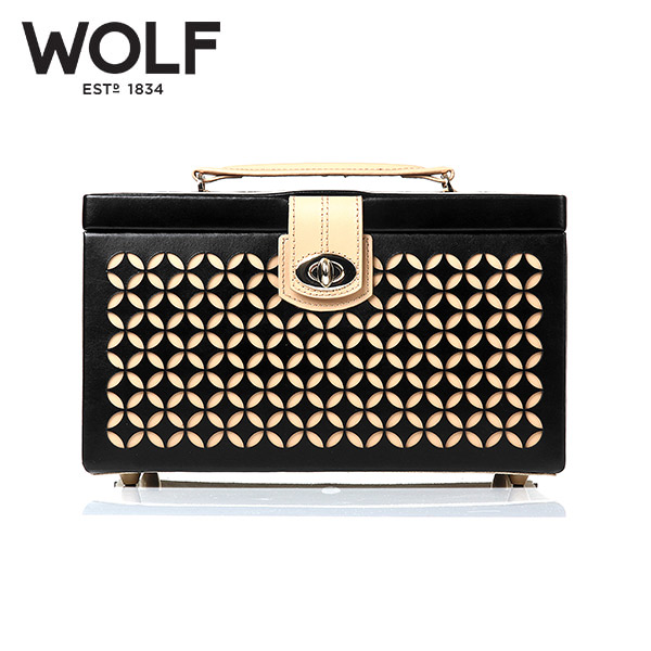 [울프 WOLF] 301002 (Chloe Medium Box Black) / 보석함 Jewel Box
