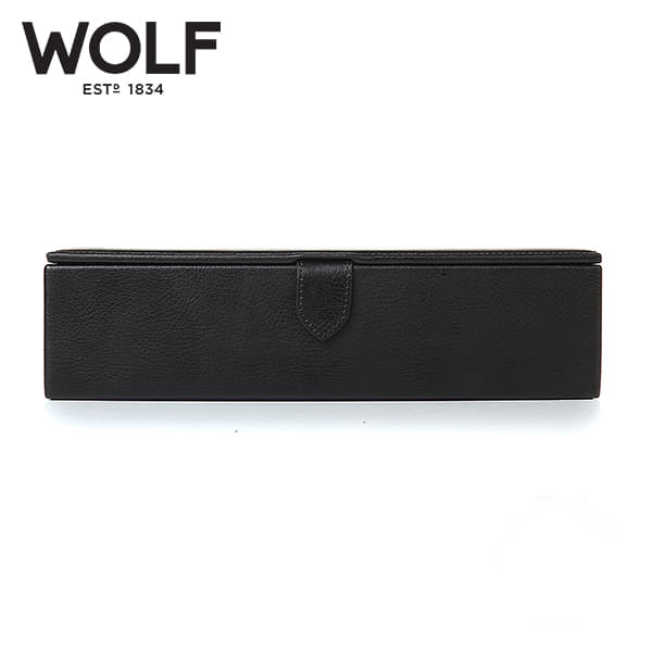 [울프 WOLF] 305528 (Blake Watch Box Black Pebble) / 시계보관함 Watch Cubbyhole
