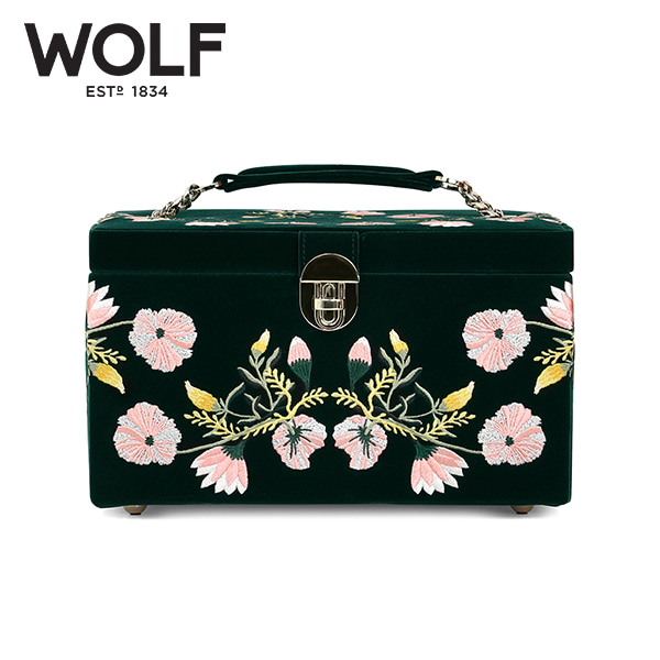 [울프 WOLF] 393112 (ZOE MEDIUM JEWELRY CASE  FOREST GREEN) / 보석함 Jewel Box