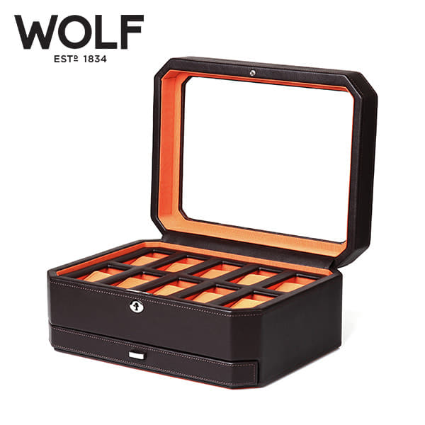 [울프 WOLF] 458606 (Windsor 10pc Watch Box w/ Draw) / 시계보관함 Watch Cubbyhole