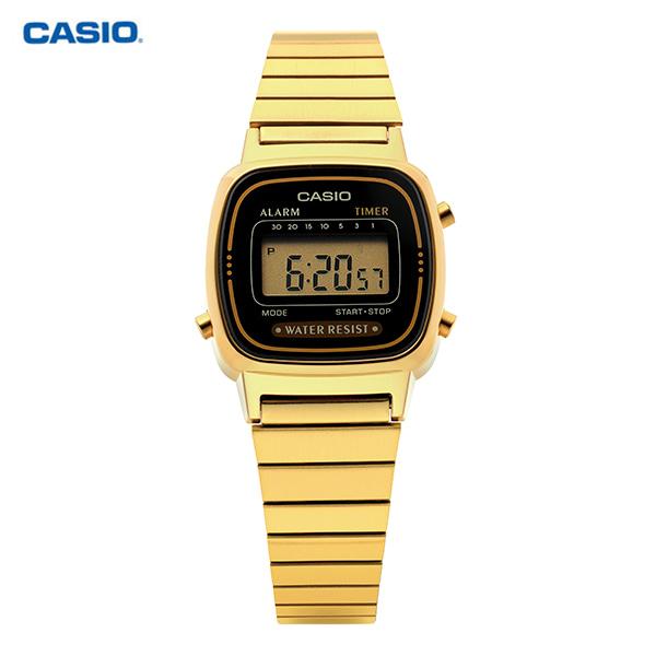 [카시오시계 CASIO] LA670WGA-1DF (LA670WGA-1) / 금장 디지털 여성 메탈시계 23mm