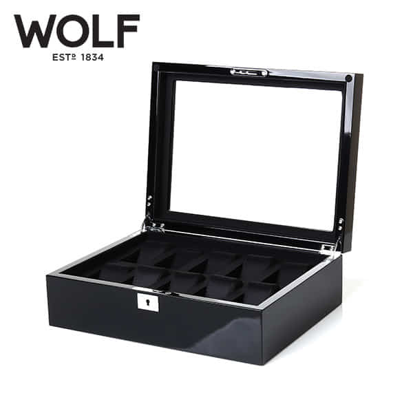 [울프 WOLF] 461670 (Savoy 10pc Watch Box Blk) / 시계보관함 Watch Cubbyhole