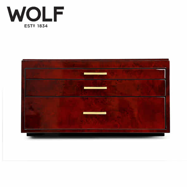 [울프 WOLF] 461010 (Meridian Watch Box Burl)  / 시계보관함 Watch Cubbyhole