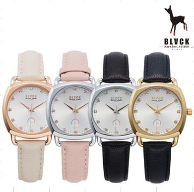 [블랙마틴싯봉 BLACKMARTINE] BKL1702L-GAXD104 / square glass watches 여성용 타임메카